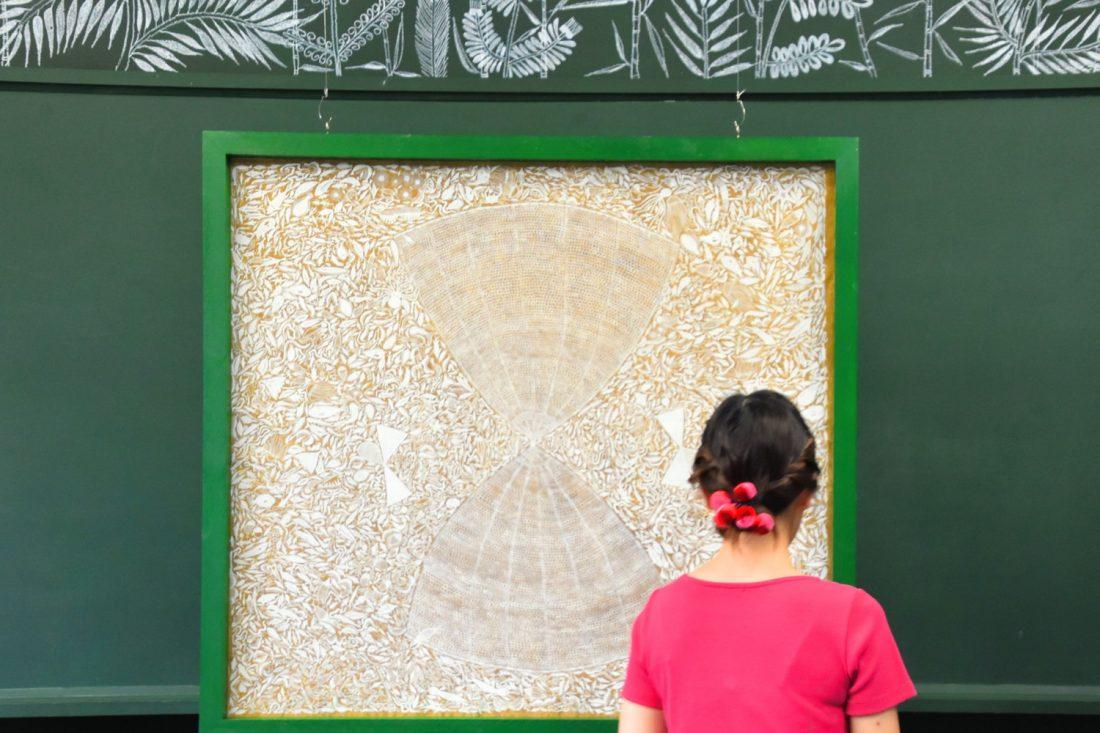 2018年に粟島で制作した絵の一部。2018年制作の作品の一部は、瀬戸内国際芸術祭の期間外も鑑賞可能