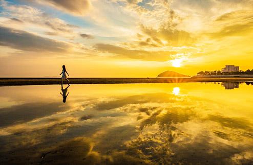 ▲ 日本の夕陽百選にも選ばれる美しい景色