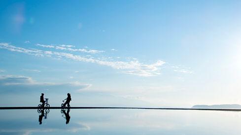 空と海が繋がる壮大な場所「父母ヶ浜」