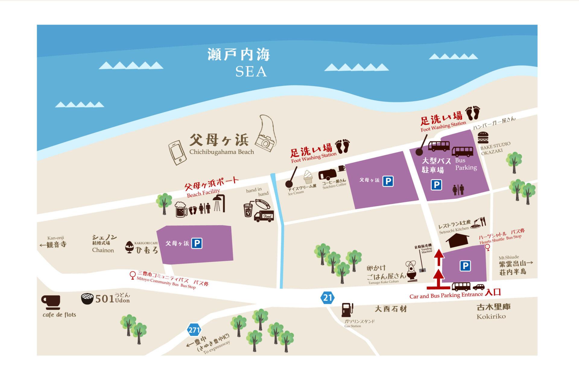 chichibugahama area map