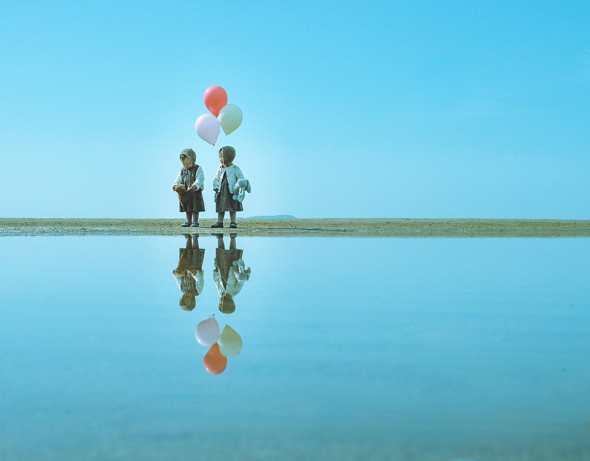 @_____.slat 「ふたごと風船」<br>[テーマ]B 海と空を繋ぐリフレクション